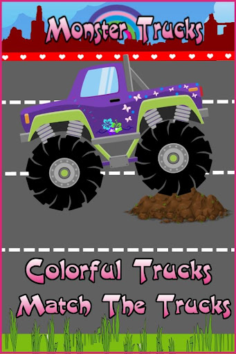 Monster Trucks For Girls:Match