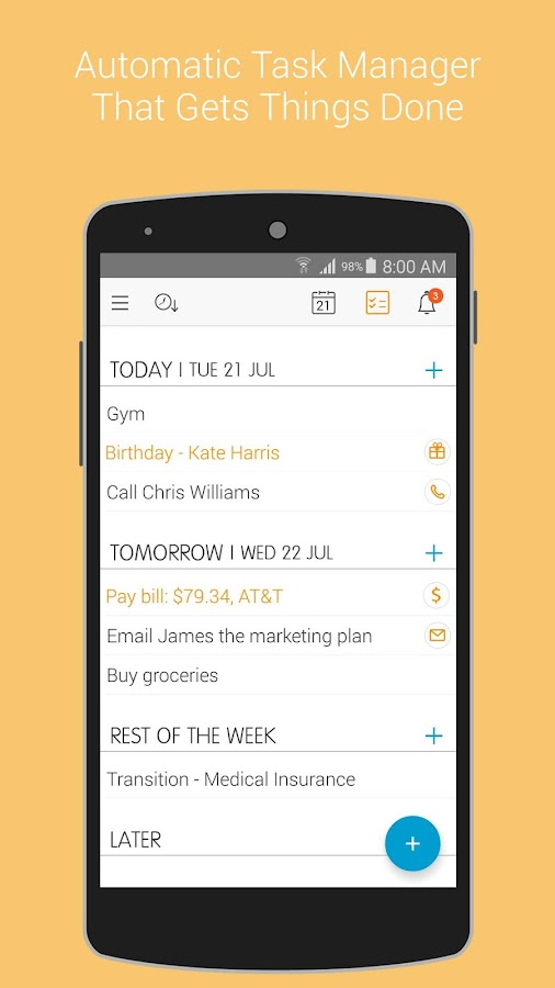 24me: To-Do, Task List & Notes- screenshot