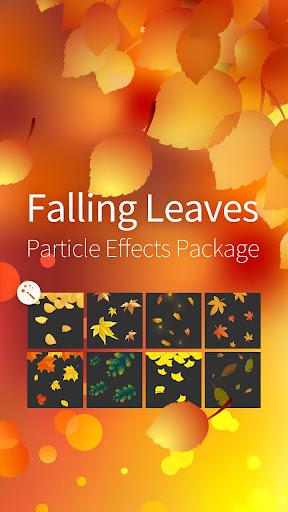 魔幻手指插件—秋季金色落叶动态粒子特效包