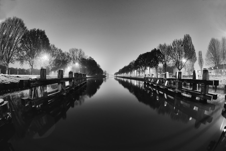Pale by Ammar Alkhatib - Black & White Landscapes ( water, nature, black and white, bw, trees, landscape photography, landscapes, landscape, river )
