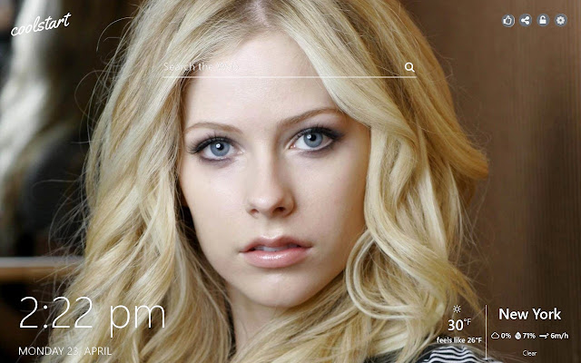 Avril Lavigne HD Wallpapers New Tab Theme