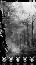 Gothic Black White theme HD - screenshot thumbnail 01
