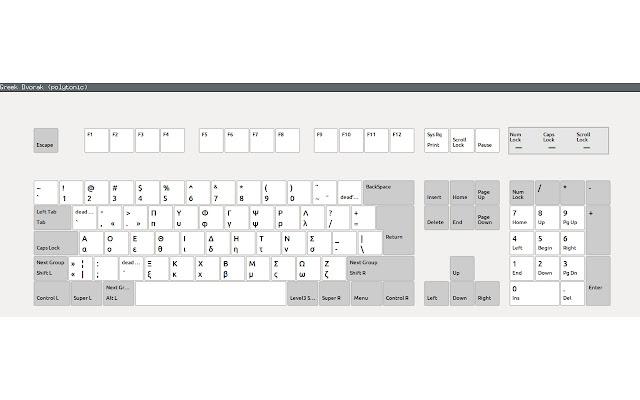 Alternative greek keyboard layouts