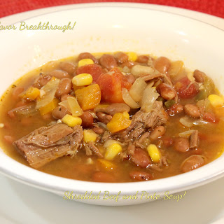 Shredded Beef and Pinto Soup!