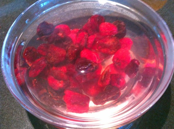 Pour boiling water over cherries to cover; let stand 5 minutes, drain well.