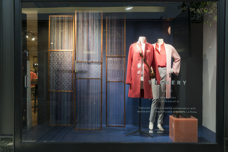 The installation is on display in the windows of the V&A Trenery store in Cape Town