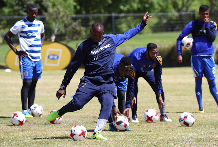 Benni McCarthy, head coach of Cape Town City during the 2017 MTN 8 Cape Town City FC Media Open Day and morning training session at Green Point, Cape Town on 11 October 2017
