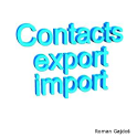 Import Contacts Export Contact icon