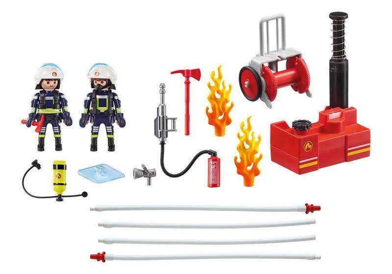 Contenido Real de Playmobil® 9468 Bomberos con Bomba de Agua