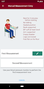 Sphygmo Home Blood Pressure Screenshot