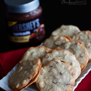 Almond Cookie Crisps with a Chocolate Almond Filling