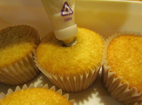 If using a pastry bag, put on a large tip and insert into the...