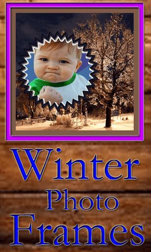 冬のフォトフレーム