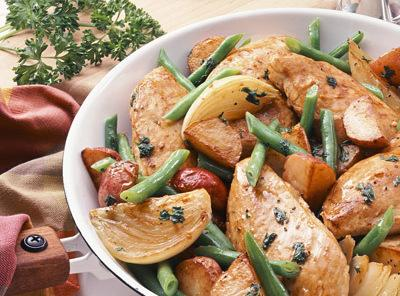 Skillet Chicken And Potato Dinner Recipe