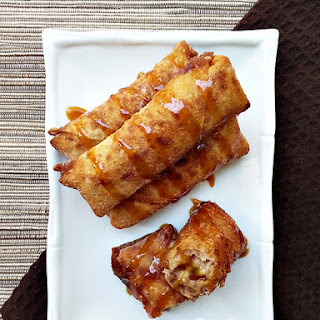 Banana Egg Rolls With Salted Caramel
