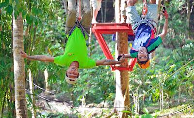 Easy Course with 20 Games Aonang Fiore Zipline Adventure in Krabi