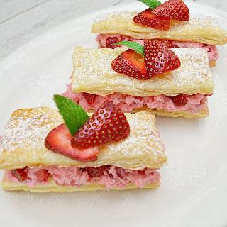Strawberry Cream Pastries.