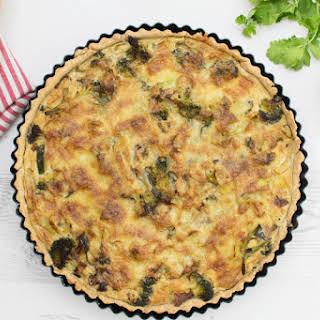 Curried Broccoli & Leek Quiche [vegetarian] [gluten free].