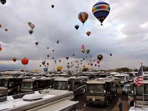 Photo: Balloons right over head!