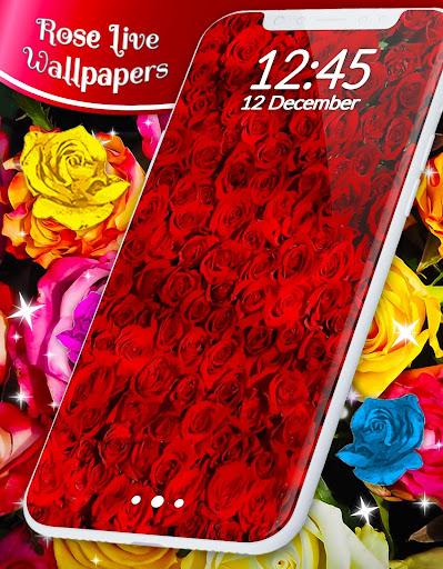 Red Rose ud83cudf39 Diamond Shine Live Wallpaper screenshots 8