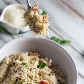 Slow Cooker Chicken and Tomato Orzo.