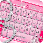 Pink Sparkling Diamond Princess Keyboard Theme APK icon