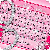 Pink Sparkling Diamond Princess Keyboard Theme