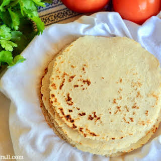 Homemade Sourdough Corn Tortillas.