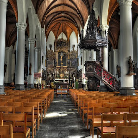 interior church by Paul Wante - Buildings & Architecture Places of Worship ( hdr, church, architecture, worship, photography )