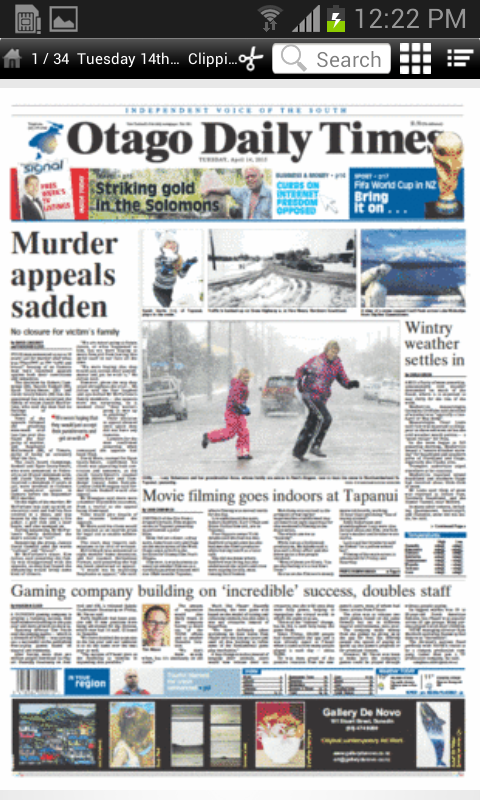 Otago Daily Times- screenshot