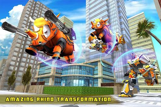 Rhino Robot Car transforming games u2013 City battle filehippodl screenshot 1