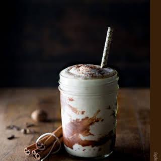 Pumpkin Spice Chocolate Espresso Milkshake with Coffee Liqueur.
