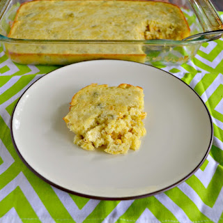 Corn Pudding with Jalapenos and Chiles