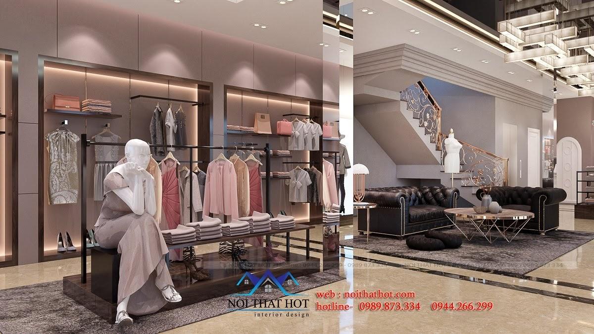 thiết kế shop thời trang sang trọng 4