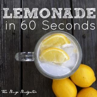 60 Second Lemonade Recipe