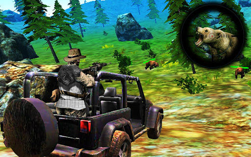 Bear Hunting on Wheels 4x4 - FPS Shooting Game 18 screenshots 1
