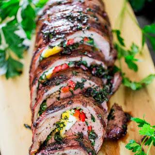 Argentinian Stuffed Flank Steak.