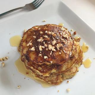 Gluten-free Praline-Pecan Protein Pancakes.