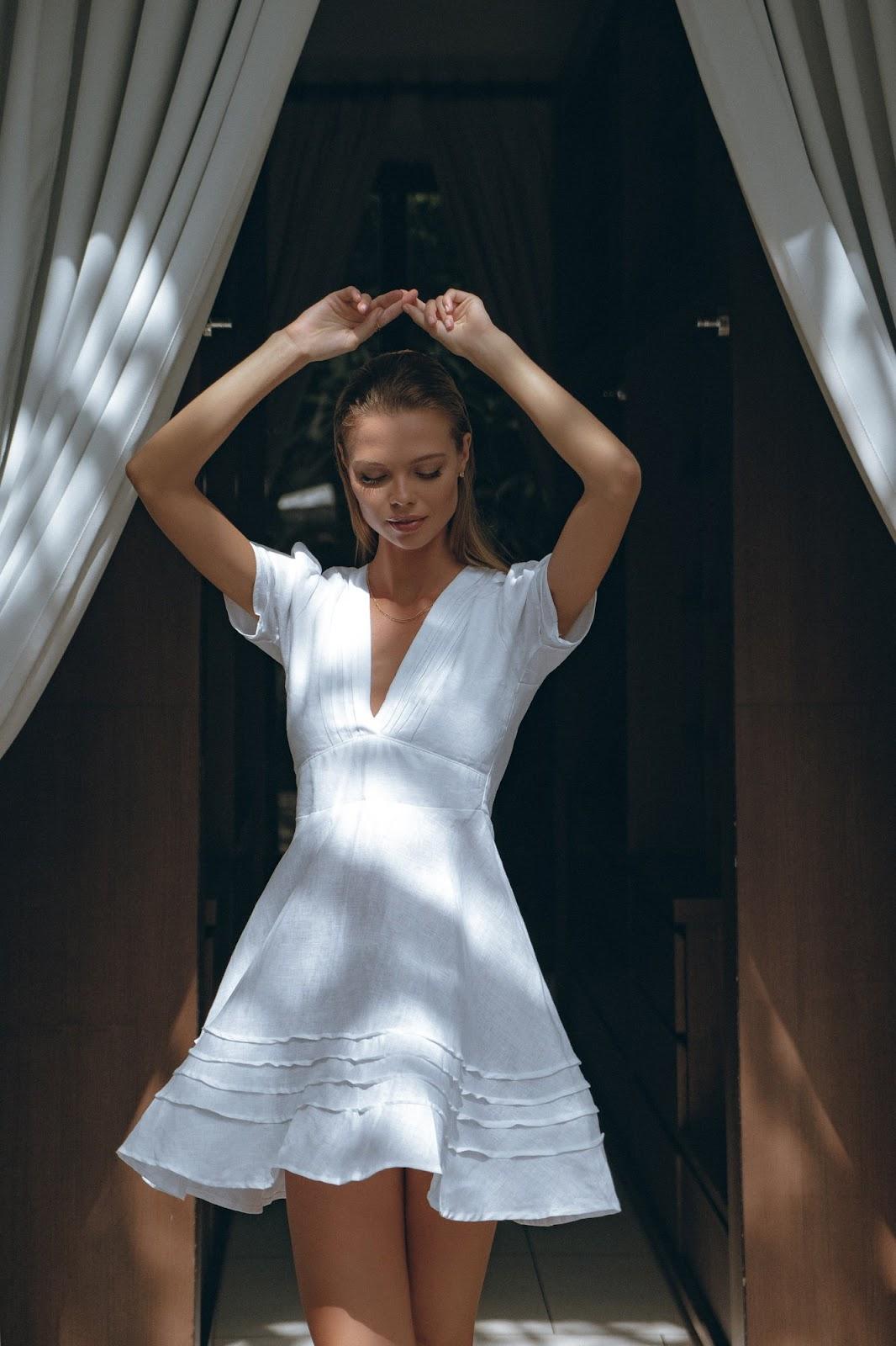 Ella Linen Mini Dress