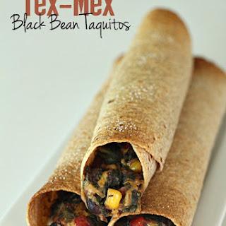 Baked Tex-Mex Black Bean Taquitos