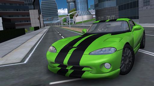 Sports Car City Driving
