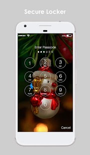 Funny Christmas Snowman HD Lock Screen Password - náhled