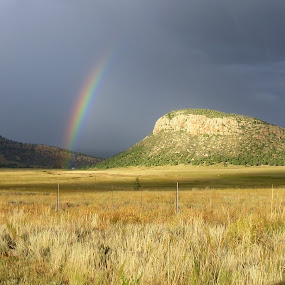 by SHARON ARMIJO - Landscapes Mountains & Hills ( hills, rainbows, landscape, rocks,  )