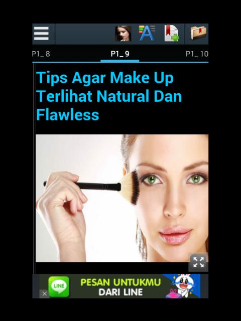 aplikasi tutorial make up natural berisi tentang tata cara bermake up ...