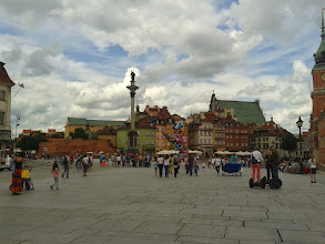 """Photo: The """"old city's"""" main square. Portions of the palace's original walls are still evident."""