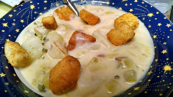 Ellen's Cheesy Potato Leek Soup Recipe