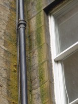 Photo: Penetrating damp caused by leaking gutter