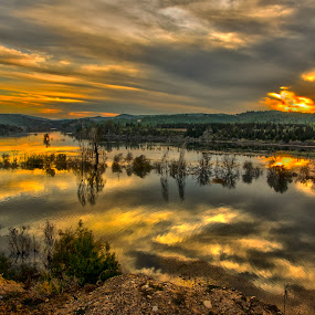 Ceyhan River sunset by Murat Besbudak - Landscapes Sunsets & Sunrises ( ceyhan river, osmaniye, turkey,  )