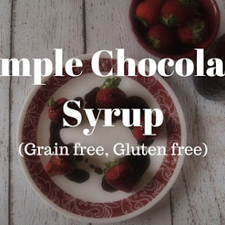 Simple Chocolate Syrup
