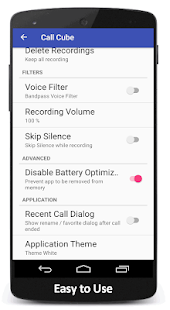 Call Cube : a automatic Call Recorder